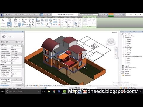 Revit architecture modern house design 6 cad needs for Revit architecture modern house design