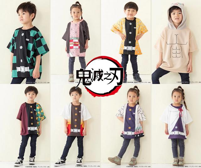 【鬼滅之刃 Kids Tee】 日本直送!鬼滅童裝 8 大主角 消費券購物推介