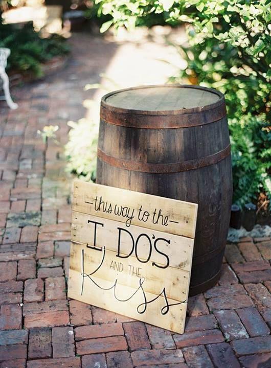 (C)  entry Jessica entrance sign  Lorren  rustic  Wedding  Pinterest rustic sign