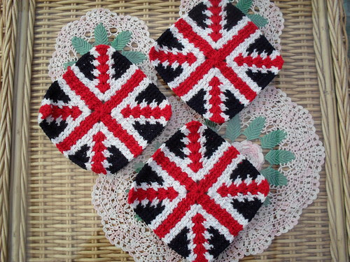 Due to circumstances beyond my control I am 'unable' to put these beautiful Squares in to our Royal Wedding Blanket. I am gutted!