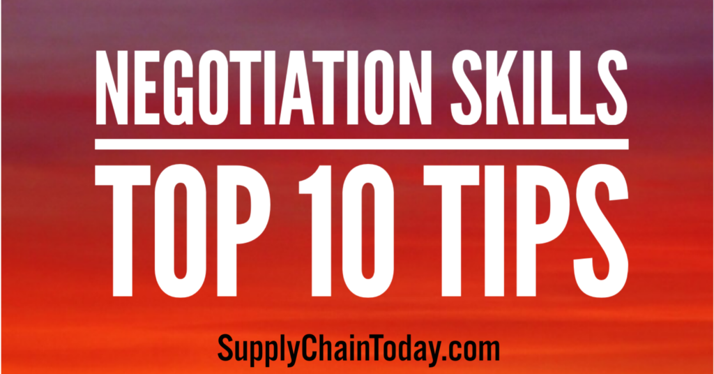 Negotiation Skills Top 10 Tips Supply Chain Today