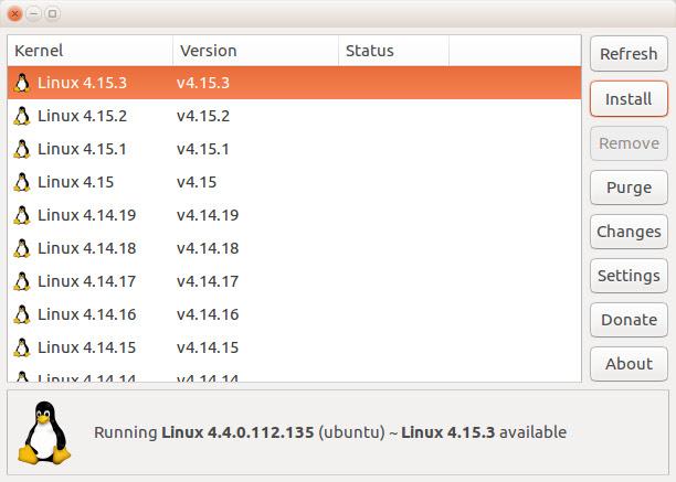 Usando o Ubuntu Kernel Update Utility para atualizar o kernel do Ubuntu