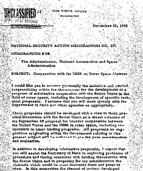 Unclassified: A second memo written by JFK on November 12 1963, 10 days before his assassination, which has been released by the CIA