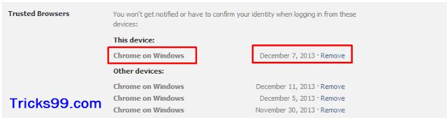 Các trình duyệt đáng tin cậy-Cài đặt bảo mật-tài khoản facebook an toàn