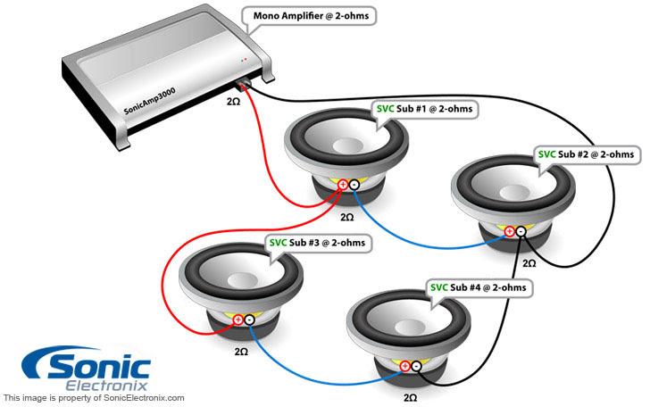 4 ohm subwoofer wiring diagram mono 3 dvc image 6