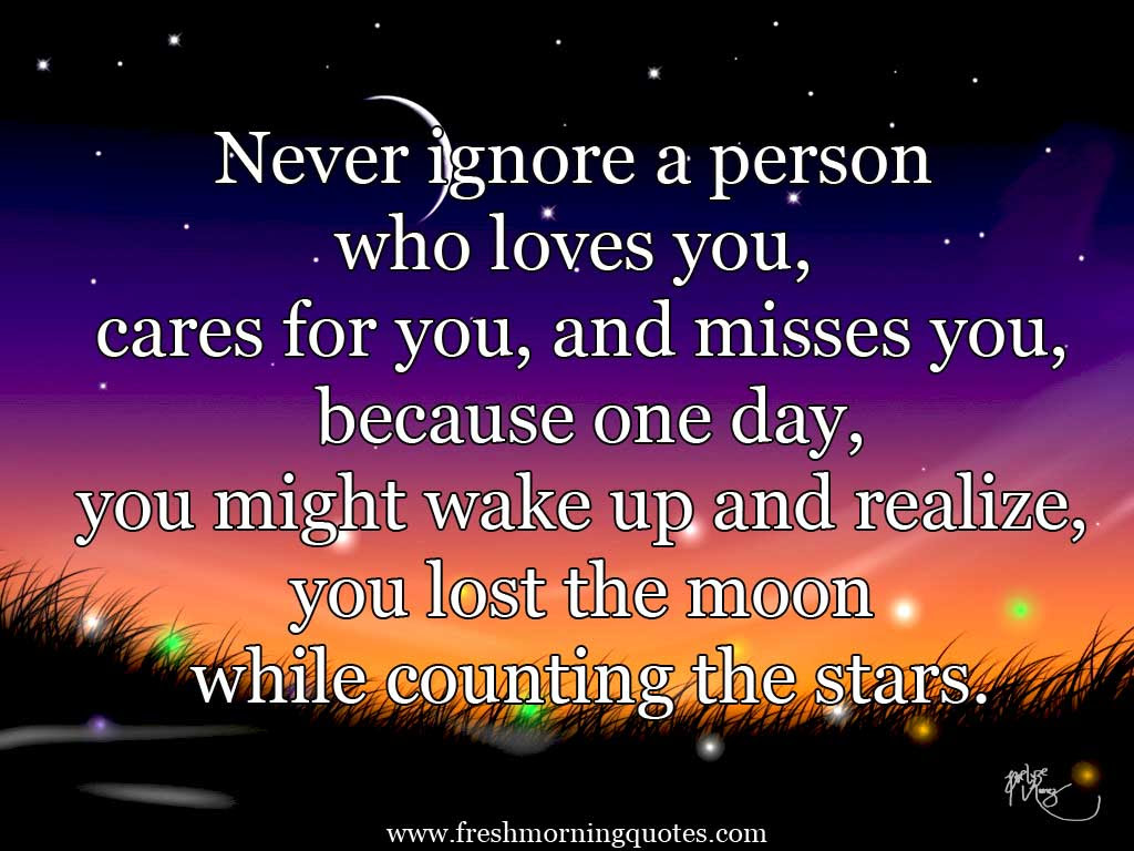 never ignore person you love quote pictures pic