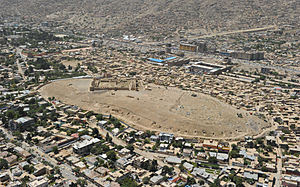 A small section of Kabul, Afghanistan.