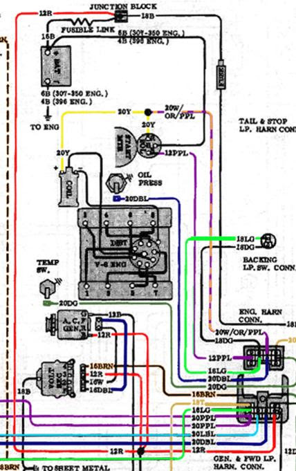 350 Chevy Wiring Harnes
