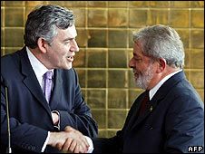 Luiz Inácio Lula da Silva and Gordon Brown