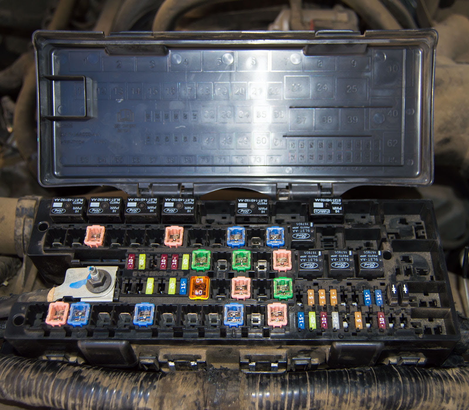 2010 mustang v6 engine fuse box cover image 6