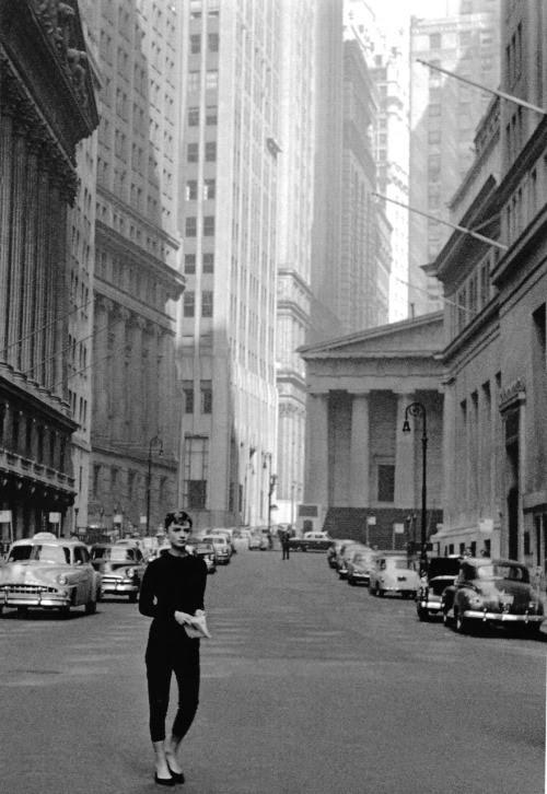 "Audrey Hepburn on the set of ""Sabrina"" - 1954."