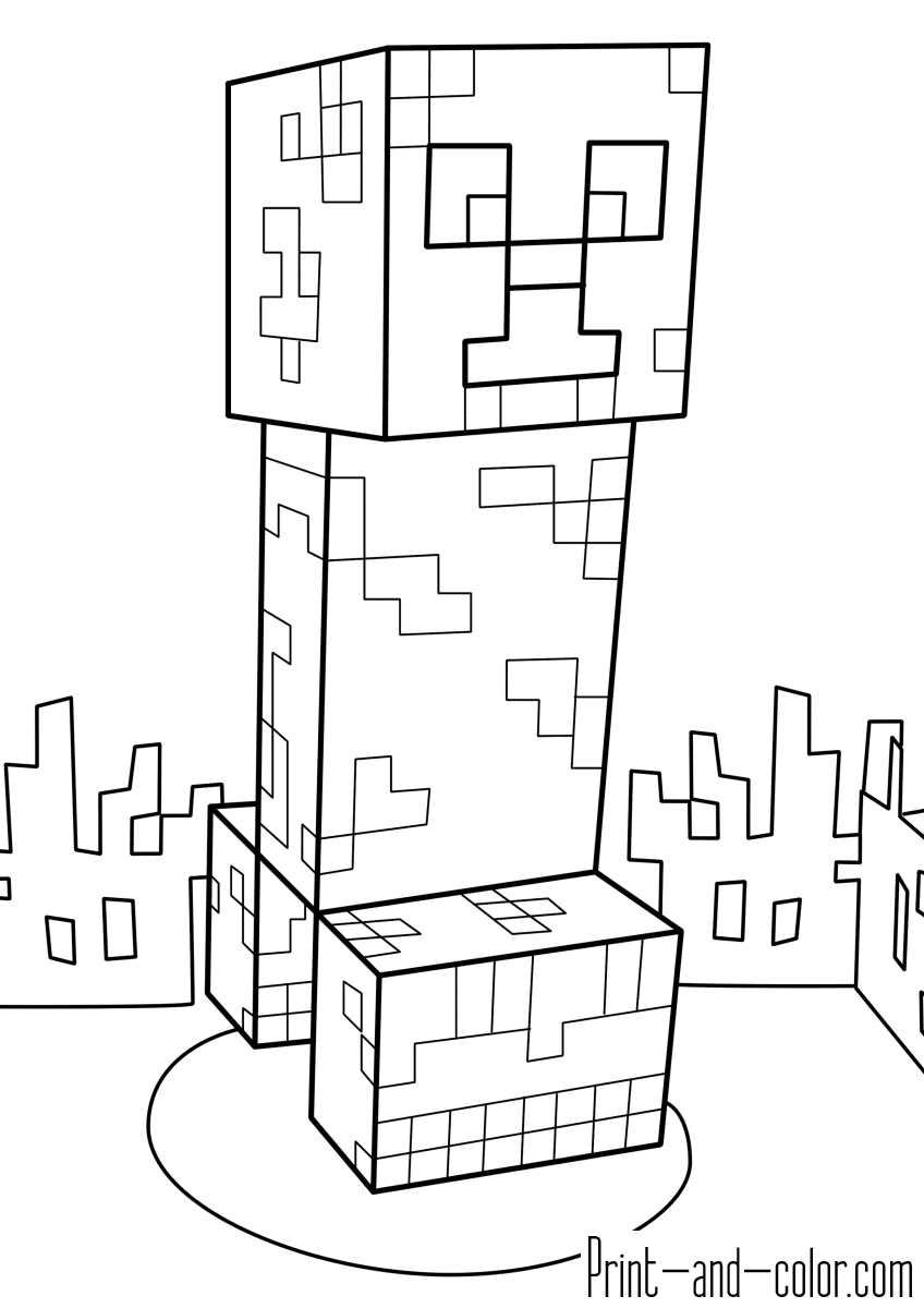 Minecraft coloring pages | Print and Color.com