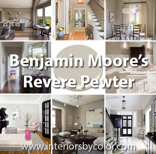 12 Rooms Painted In Benjamin Moore Revere Pewter Interiors By Color