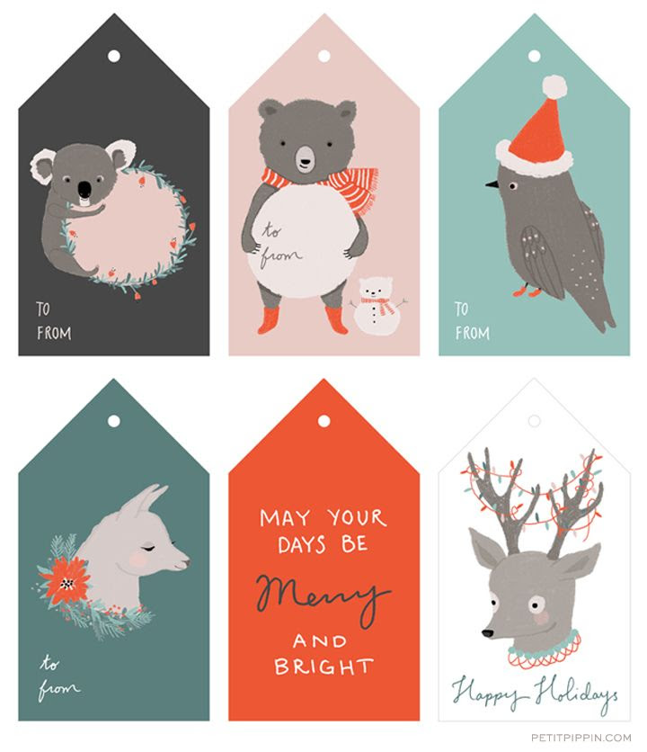 Free Printable Holiday Tags — Petit Pippin