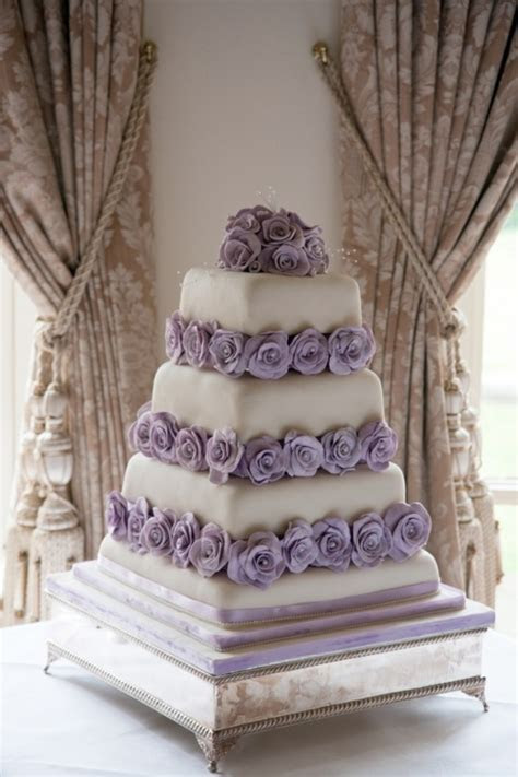 64 best images about Purple & White Wedding cakes on