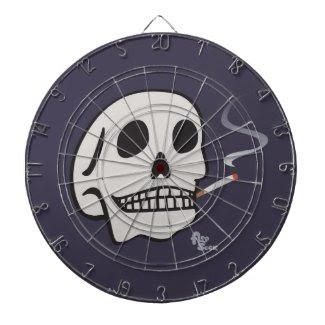 Smokin' Skull Dartboard