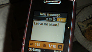 """Girl writes """"Leave me alone"""" in a text message (generic)"""