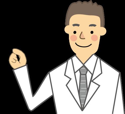 医療白衣の男性のイラスト無料イラストフリー素材
