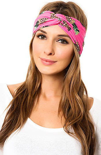 See You Monday Hot Pink Pineapple Turban