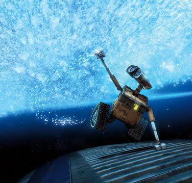 WALL-E hitches a ride through the cosmos.