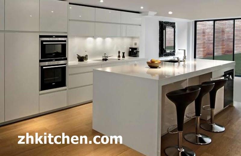 Gloss White Modern Acrylic Kitchen Canbinet
