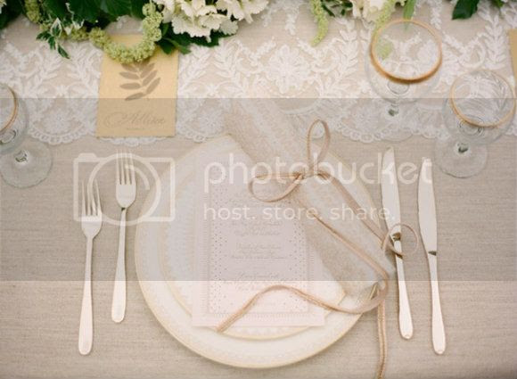 Lace wedding tablescape