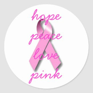 Pink Ribbon Awareness Products Stickers