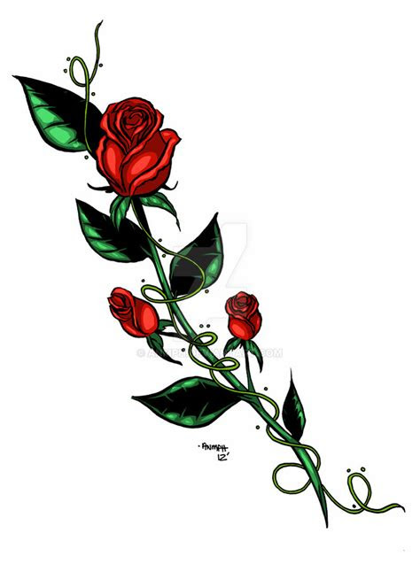 rose tattoo design anmph deviantart