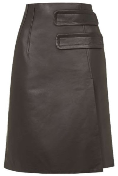 Topshop Inverness Leather Skirt by Unique