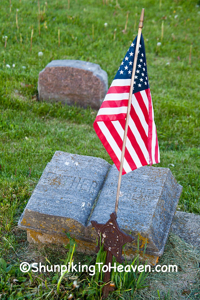 Civil War Veteran's Grave , Burnett Corners Cemetery, Dodge County, Wisconsin