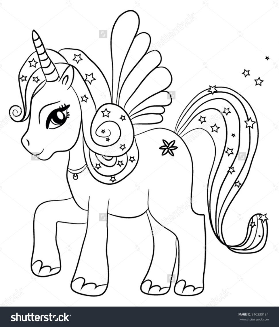 Unicorn Drawing For Kids at GetDrawings | Free download