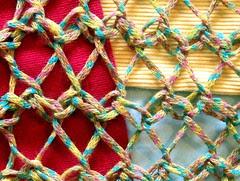 Rowan Linen Print shawl, detail