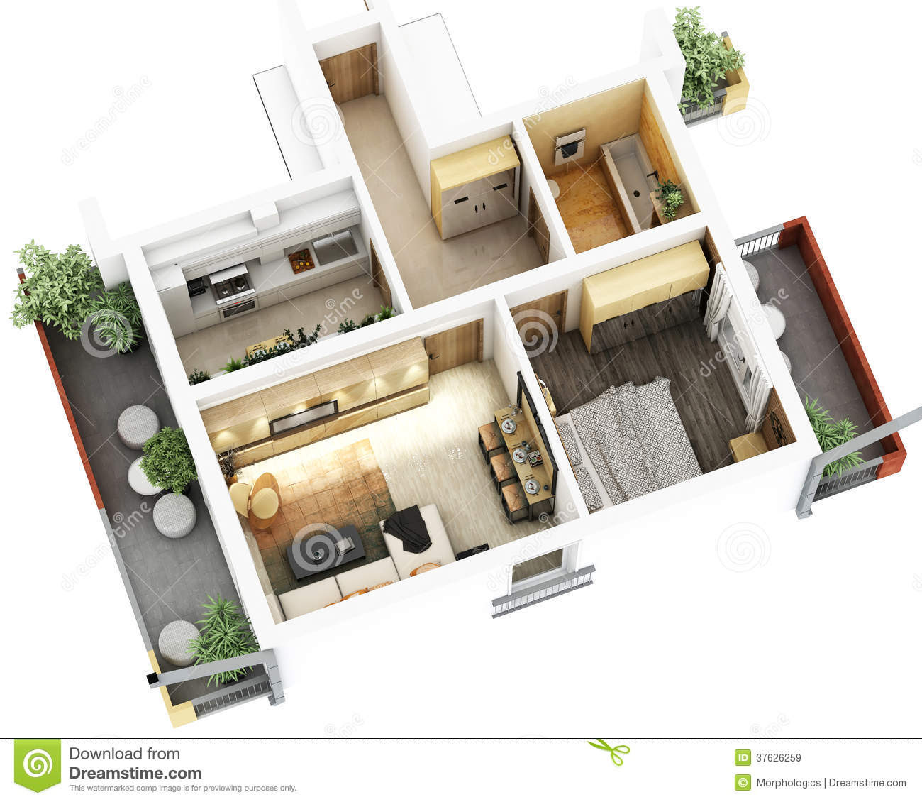 3d  Floor Plan  Royalty Free Stock Images Image 37626259