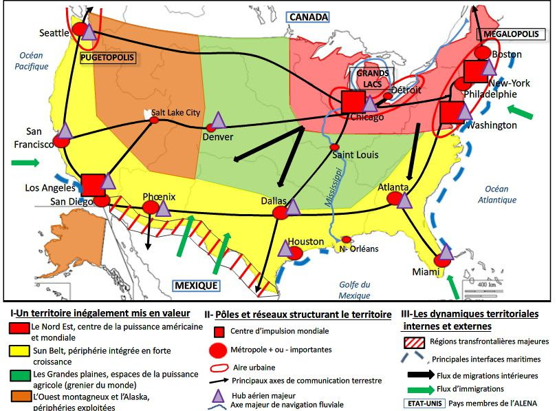 carte geo bac s Carte : Carte Etats Unis Bac