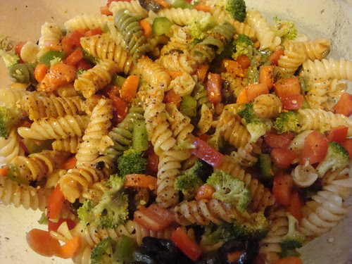 Pasta salad completed