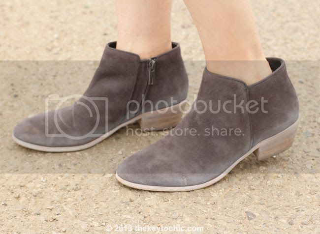 Sam Edelman Petty boots in New Navy, gray ankle boots