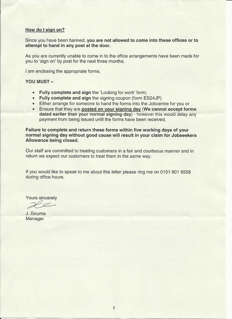 jobcentre brev 2