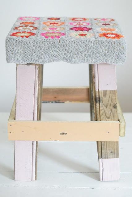 wood & wool stool sold at yvestown fair 2013