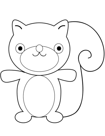 9700 Cartoon Squirrel Coloring Pages For Free