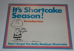 Peanuts Shortcake sign