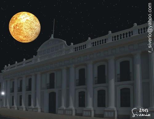 Mercurio desde La Antigua Facultad de Derecho. 10:00 pm by Niño Jesús