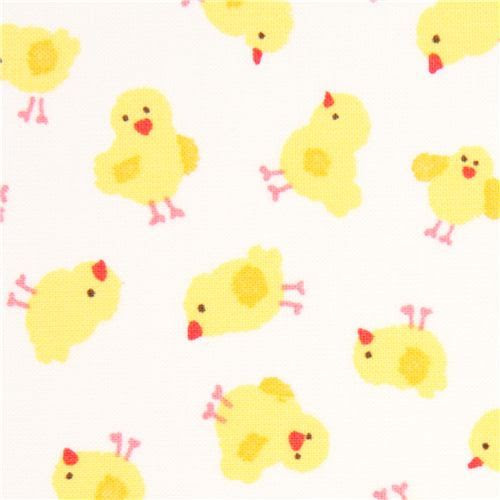 white baby chick fabric Timeless Treasures