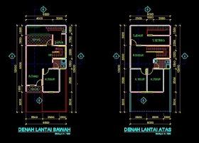 Desain Autocad Rumah