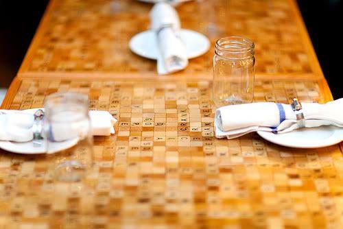 Scrabble Tile Table