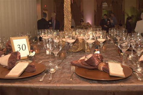Copper Color Scheme Wedding Table Decorations