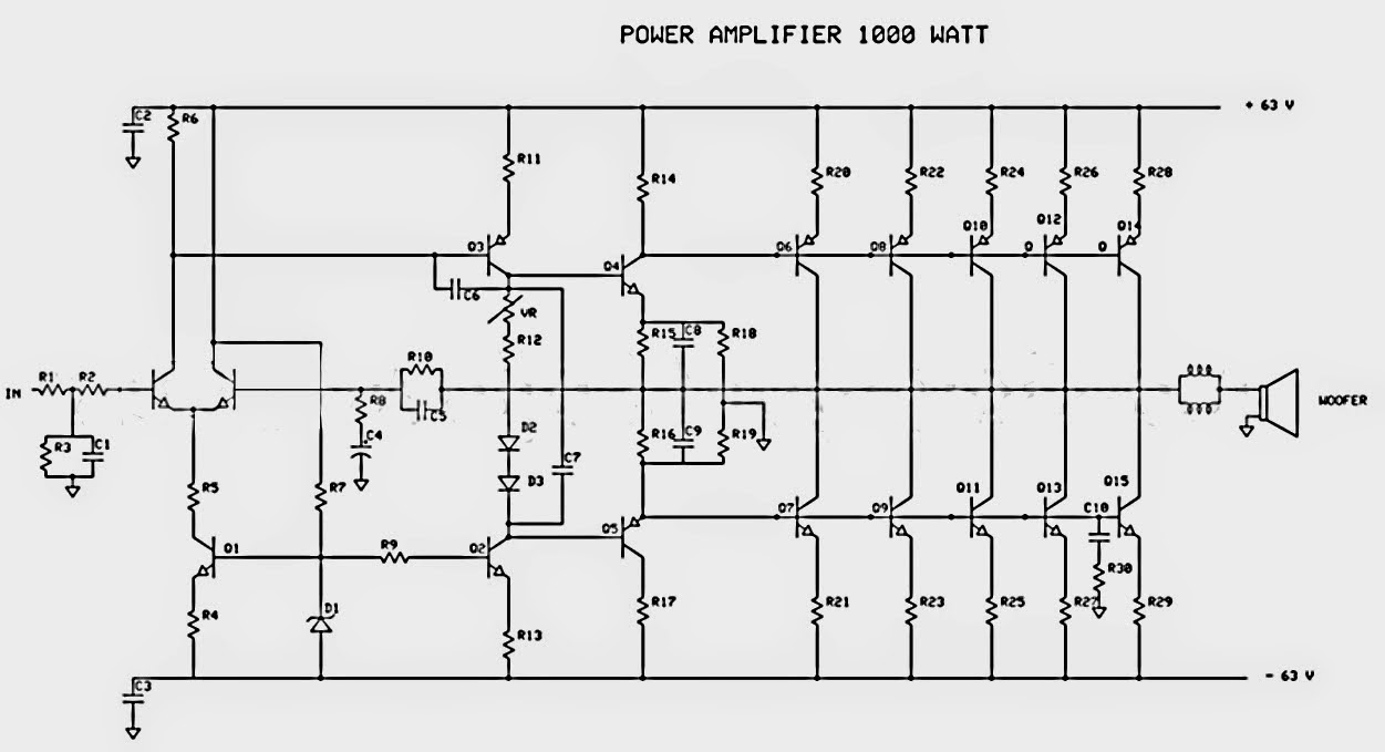 1000w power amplifier schematic