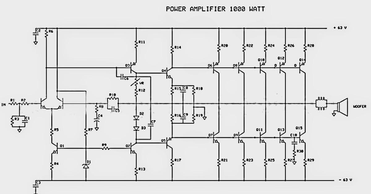 i u0026 39 m yahica  1000w audio amplifier circuit diagram