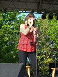 Gwen Sebastian sings