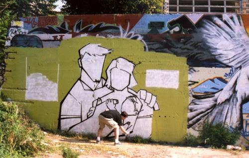 Mother's Day graffiti: In progress