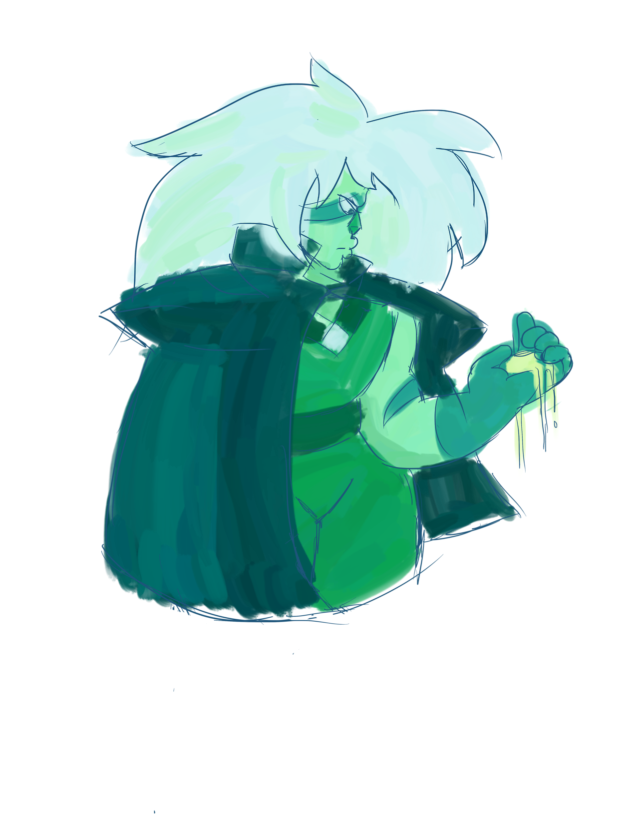 quick jasper doodle. listening to metallica and thinking about anakin skywalker